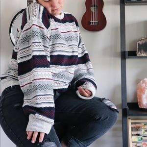 90s Oversized Knit Grandpa Sweater